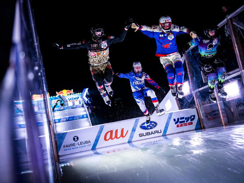 Egor Tutarikov (RUS), Mike Tremblay (CAN), Aden Johnston (CAN). © Jason Halayko / Red Bull Content Pool