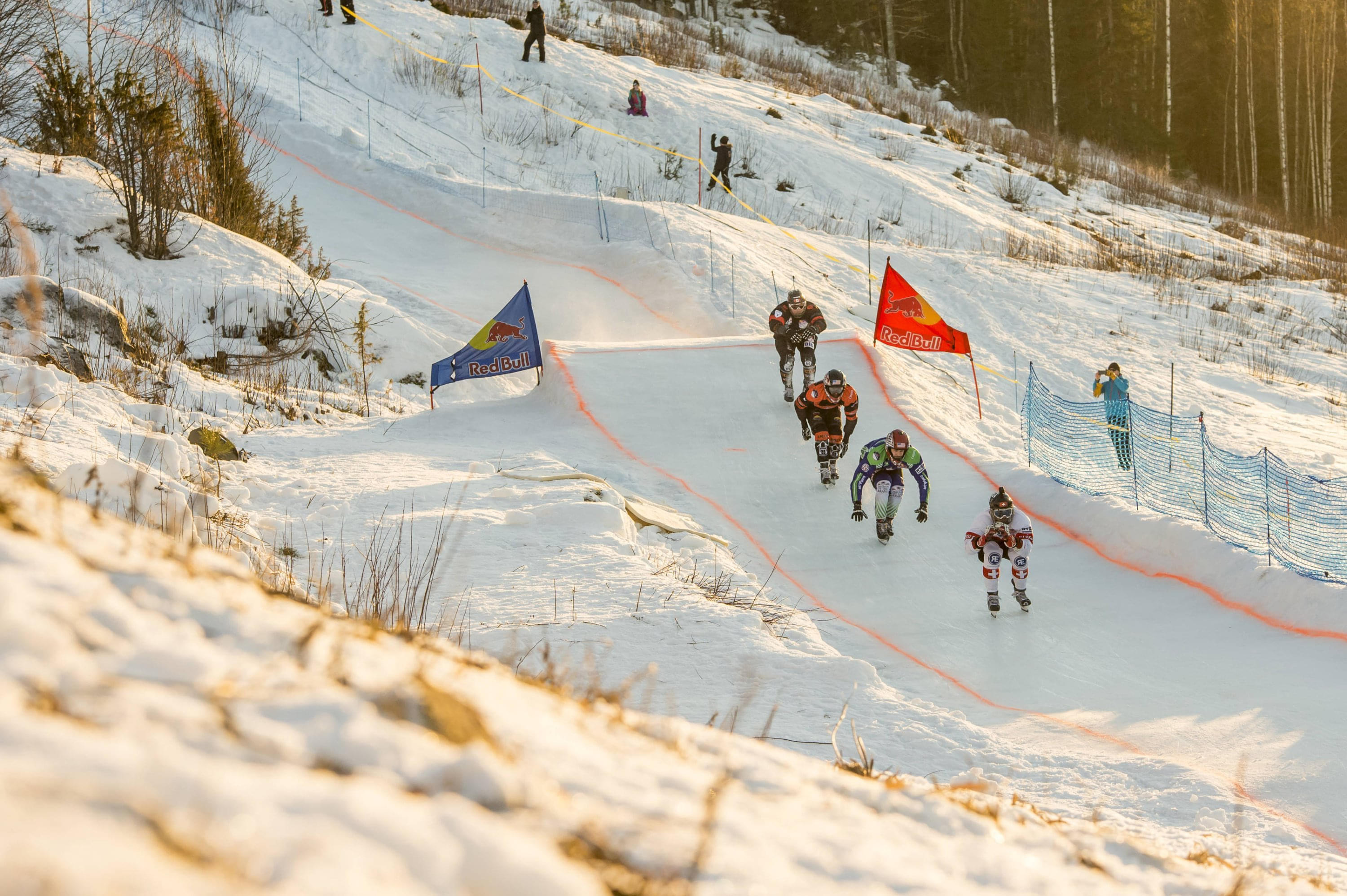 Jim De Paoli leads as he closes in on the Rautalampi finishing line. Image: Mark Roe / Red Bull Content Pool